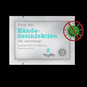 bedruckte Handdesinfektionstuecher
